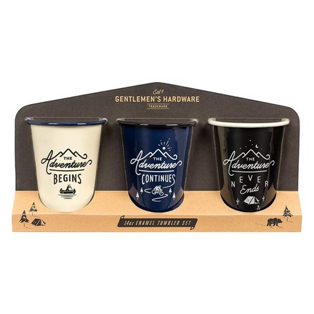 Gentlemen's Hardware Enamel Tumbler Set of 3