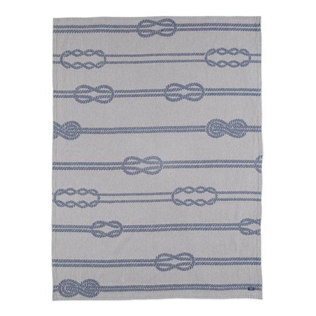 Nautical Knot Cotton Throw