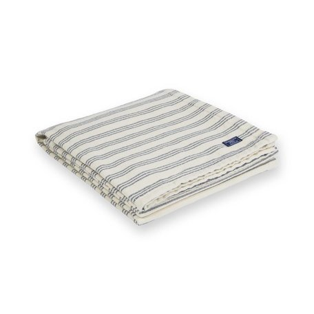 Beacon Stripe Cotton Throw - Navy