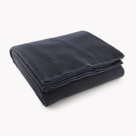 Pure & Simple Wool Blanket, King - Ink