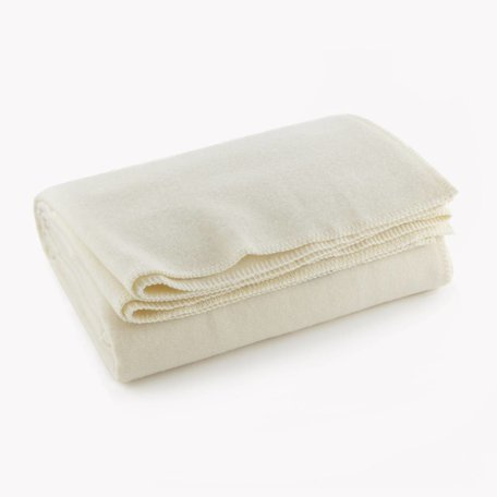 Pure & Simple Wool Blanket, Queen - Bone White