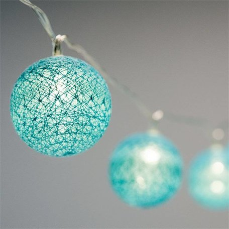 Lucent Globe LED Lights - Teal