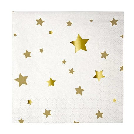 Gold Stars Napkins - Small