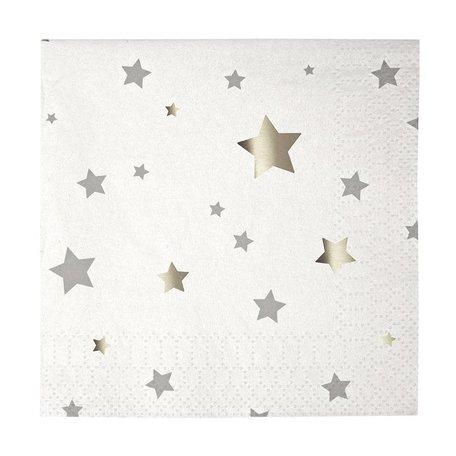 Silver Stars Napkins - Small
