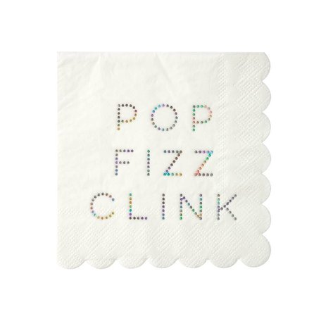 Holograph Pop, Fizz, Clink, Napkins - Small