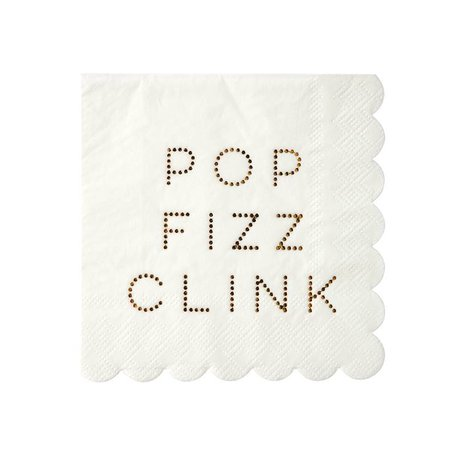 Gold Pop, Fizz, Clink, Napkins - Small