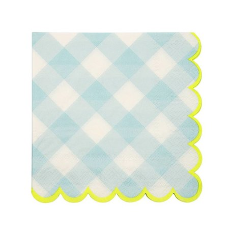 Meri Meri Small Blue Gingham Napkins
