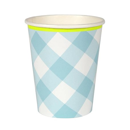 Meri Meri Blue Gingham Cups