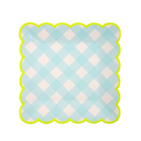 Meri Meri Small Blue Gingham Plates