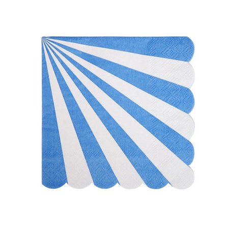 Meri Meri Blue Striped Small Napkins