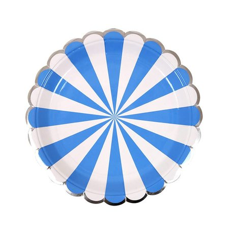 Meri Meri Blue Striped Small Plates
