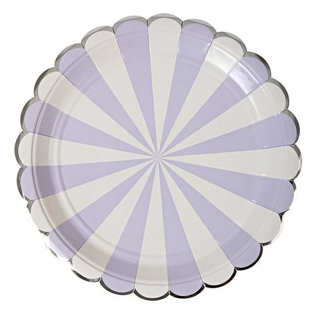 Meri Meri Lavender Striped Large Plates