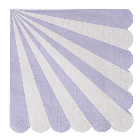 Meri Meri Lavender Striped Large Napkins