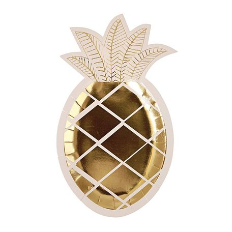 Meri Meri Gold Pineapple Plate