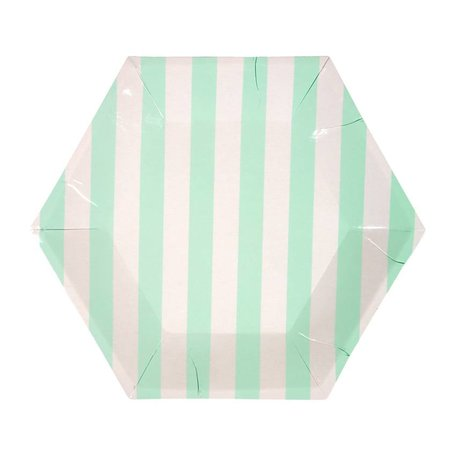 Mint Stripe Small Plate