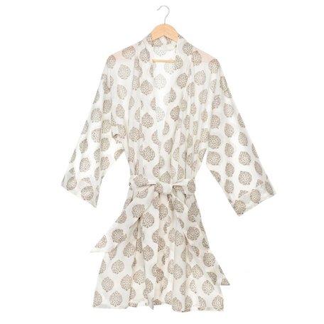 Flora Block Print Robe