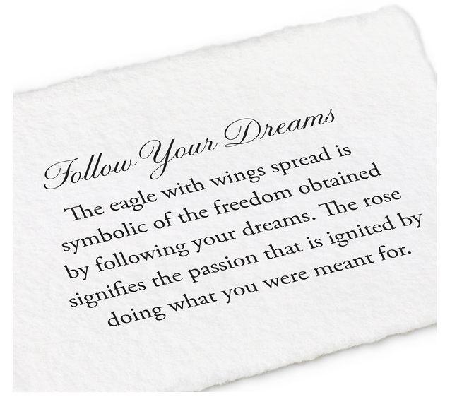 PYRRHA SILVER FOLLOW YOUR DREAM