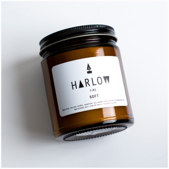 HARLOW SKIN CO. WOOD WICK CANDLE 50hr