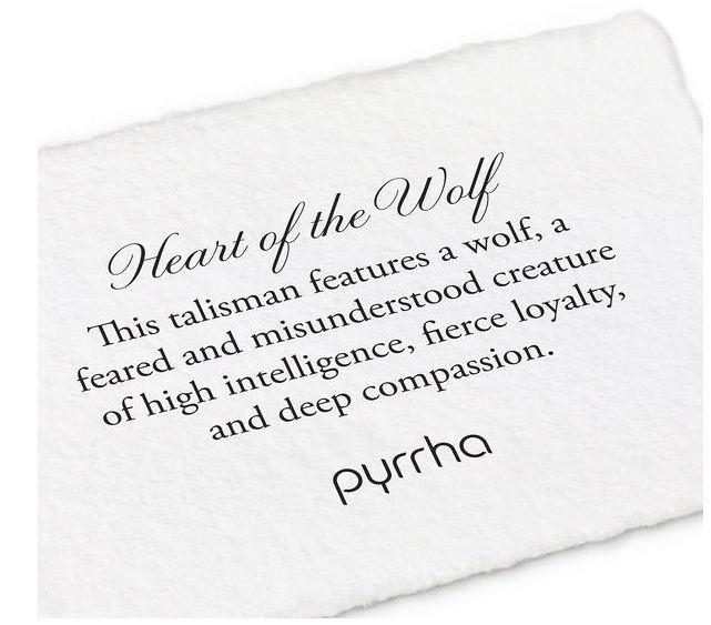 PYRRHA PYRRHA SILVER HEART OF THE WOLF