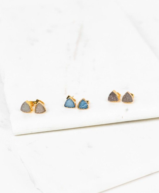 COUTUKITSCH ABRA TRIANGLE STUD EARRINGS