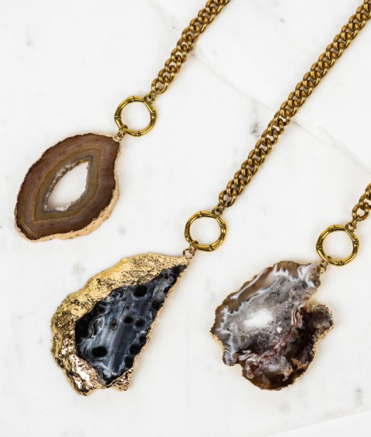 COUTUKITSCH GEODE NECKLACE