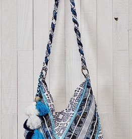 LOVE STITCH LOVE STITCH BLUE HOBO BAG