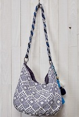 LOVE STITCH BLUE HOBO BAG