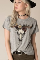 WHITE CROW BLOOMING BULL TEE