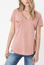 Z SUPPLY ZSUP SUEDE POCKET TEE