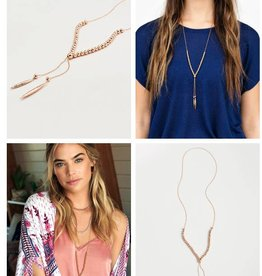 GORJANA GORJANA LAGUNA LARGE NECKLACE ROSE GOLD