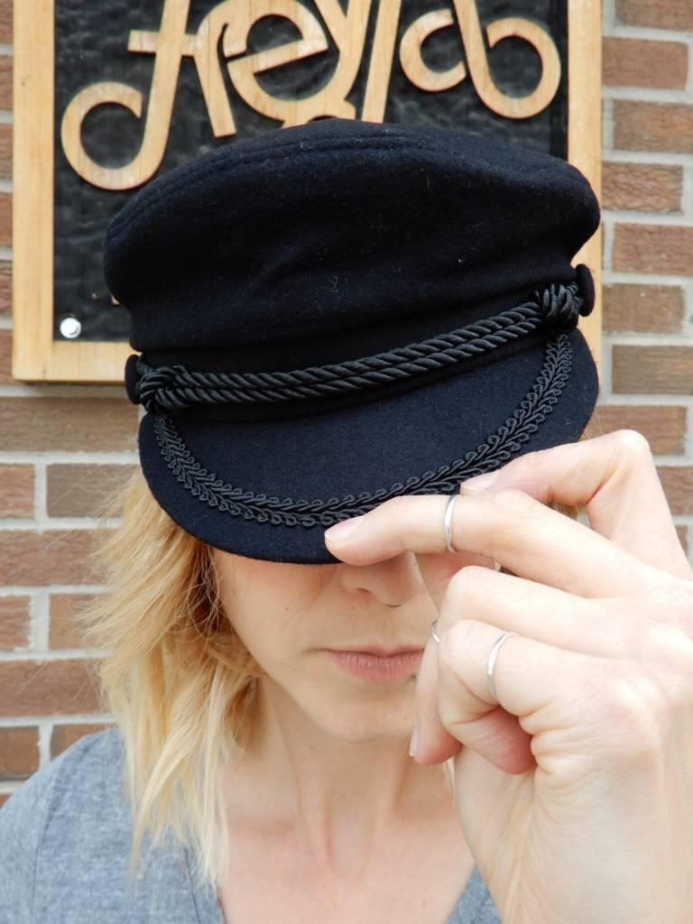 LLR VINTAGE BLACK CAPTAINS HAT