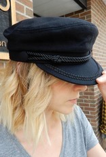 BLACK CAPTAINS HAT