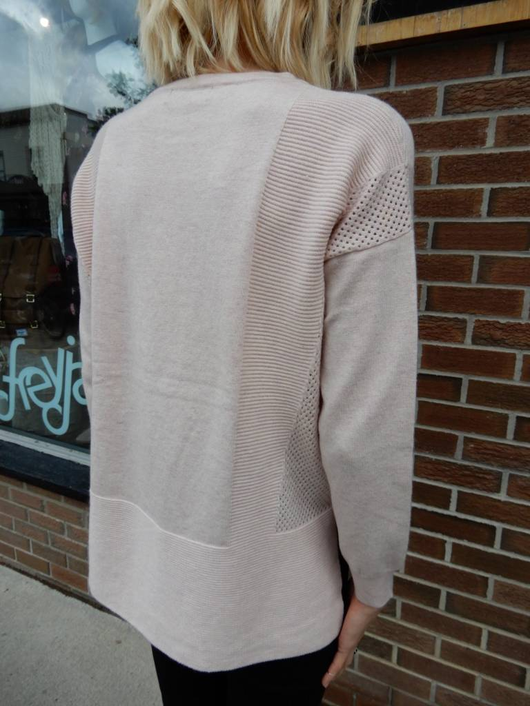 JANA LAUREL BLUSH SWEATER