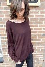 CEST MOI CLOTHING COZY COFFEE SWEATER