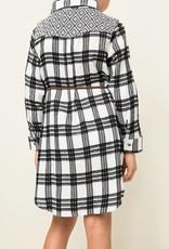 HAYDEN LA PLAID DRESS WITH BELT