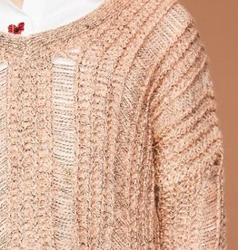 HAYDEN LA BLUSH OPEN BACK SWEATER