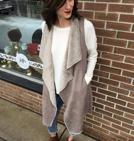 CLAYSTONE FAUX VEST