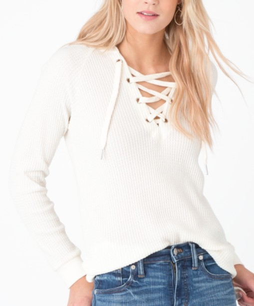 Z SUPPLY LACE UP THERMAL
