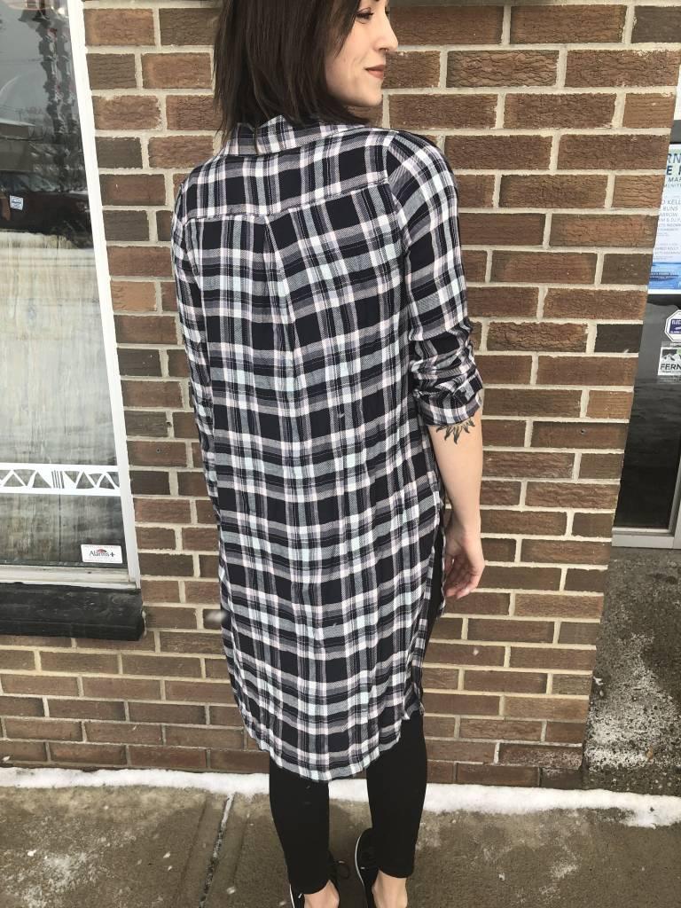 PPLA FRANKIE  PLAID SHIRT DRESS