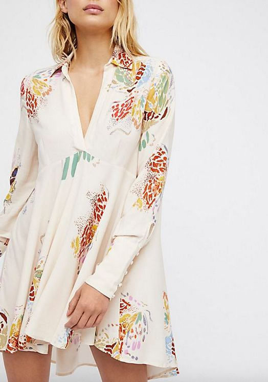 FREE PEOPLE FIELD OF BUTTERFLIES TUNIC