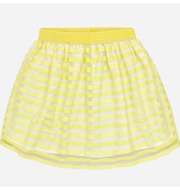MAYORAL LEMON STRIPE SKIRT