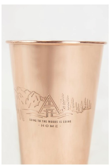 UNITED BY BLUE TO THE WOODS COPPER TUMBLER