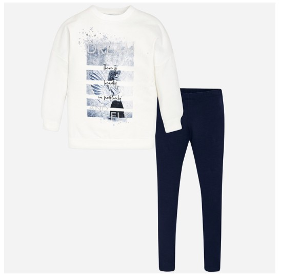 MAYORAL WINGS LEGGING SET NAVY