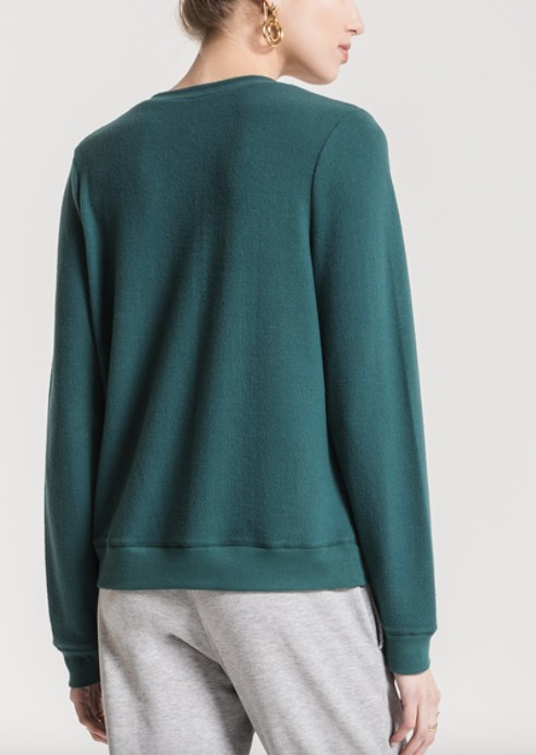 Z SUPPLY Z SUP KNIT CROSS FRONT SWEATER