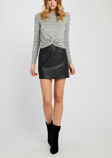 GENTLE FAWN ADRIENNE STRETCH PLEATHER SKIRT