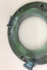 "Porthole Glass Aluminum Green 9"""