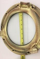 """Porthole Glass Aluminum Antique 11"""""""