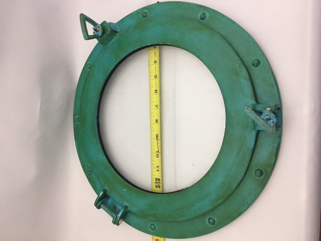 Porthole Glass Aluminum Green 15""