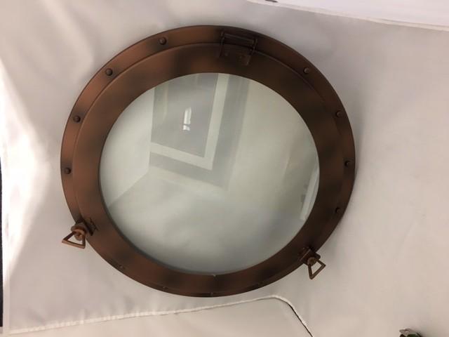 """Iron Porthole Glass Antique Finish 20"""""""
