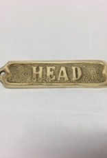 "Solid Brass Door Sign ""Head"" 5"""